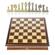 Italfama - Chess Set with Drawer & Metal Pieces