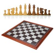 Italfama - Framed Chess Board with Hand Cut Chess Pieces