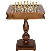 Italfama - Beech Wood Chess Board/Table w/ Drawer