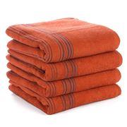 Hamam - Meyzer Contrast Burnt Orange Bath Towel 100x150cm