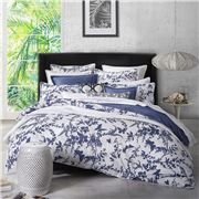 Florence Broadhurst - Tropical Floral Navy King Quilt Cover