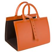 Midipy - Leather Magazines Holder Orange