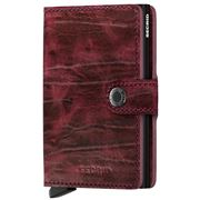 Secrid - Dutch Martin Leather Bordeaux Mini Wallet