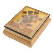 Ercolano - Sunflowers Musical Jewellery Box