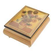 Ercolano - Sunflowers Musical Jewellery Box