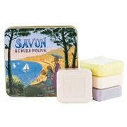 La Savonnerie De Nyons - French Riviera Tin Soap Set 4pce