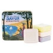 La Savonnerie De Nyons - French Riviera Tin Soap Set 4pce
