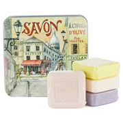 La Savonnerie De Nyons - The Montmatre Tin Soap Set 4pce