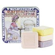 La Savonnerie De Nyons - The Metropolitan Tin Soap Set 4pce