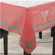 Garnier-Thiebaut - Flanerie Tablecloth Corail 175x255cm