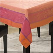 Garnier-Thiebaut - Nymphee Tablecloth Peche Rosee 172x362cm