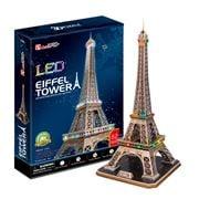 Cubicfun - Eiffel Tower 3D Architecture Puzzle w/LED Lights