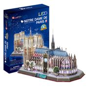 Cubicfun - Notre Dame 3D Architecture Puzzle w/ LED Lighting
