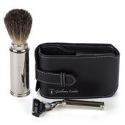 Gentleman London - Davies Leather Travel Shaving Kit