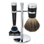 Gentleman London - Davies Black Razor & Shaving Brush Stand