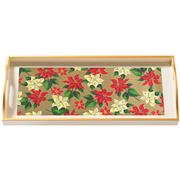 Whitelaw & Moss - Poinsettia On Cream Sandwich Tray