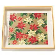 Whitelaw & Moss - Poinsettia On Cream Small Tray