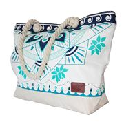 Epoch Collective - Aquatic Lotus Canvas Beach Bag