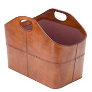Rossini Leather - Oval Magazine Basket