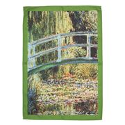 L'Ensoleillade - Bridge Over Waterlily Pond Tea Towel