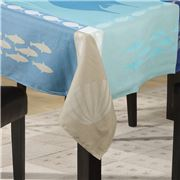 L'Ensoleillade - Grand Blue Coated Tablecloth 200x160cm