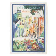 L'Ensoleillade -  La Promenade Des Anges Tea Towel