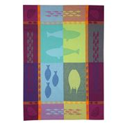 L'Ensoleillade - Grand Bleu Multicoloured Tea Towel