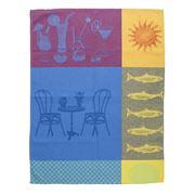 L'Ensoleillade - Dolce Vita Blue & Violet Tea Towel
