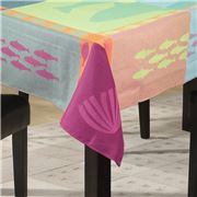L'Ensoleillade - Grand Blue Multicolour Tablecloth 160x160cm