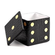 L'objet - Decorative Dice Box Black