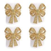 L'objet - Bowtie Gold Napkin Ring Set 4pce