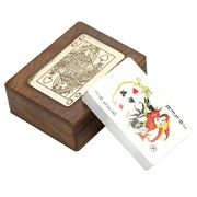 OneWorld - Queen of Spades Wooden Card Box
