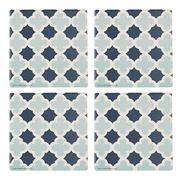 Thirstystone - Lattice Pattern Coaster Set Blue 4pce