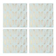 Thirstystone - Glam Feathers Coaster Set Of 4