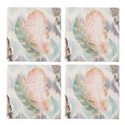 Thirstystone - Ikat Feathers Coaster Set Of 4