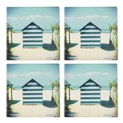 Thirstystone - Beach Hut Coaster Set Of 4