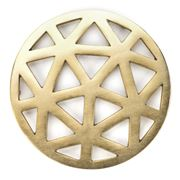 Old Hollywood - Geometric Cut Gold Trivet
