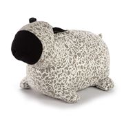 ART -  White Dotti Grey Hand Printed Sheep Doorstop