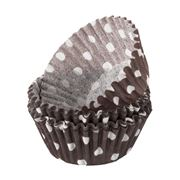 Regency - Brown & White Polka Dot Mini Baking Cups 40pce