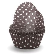 Regency - Brown & White Polka Dot Baking Cups 40pce