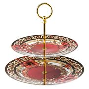 Rosenthal - Versace 2016Christmas Blooms 2 Tier Cake Stand