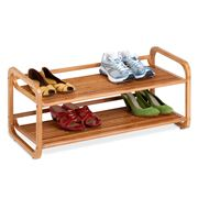 Honey Can Do - 2 Tier Bamboo Shoe Rack
