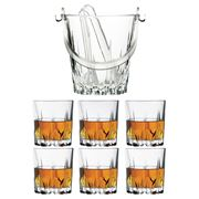Pasabahce - Karat Whisky Tumbler & Ice Bucket Set 7pce