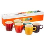 Le Creuset - Espresso Mugs Rainbow 100ml Set 6pce
