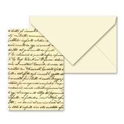 Tassotti - Vintage Script Notecard & Envelope