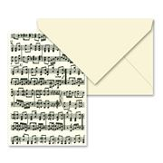 Tassotti - Music Notes Notecard & Envelope