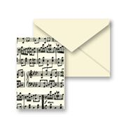 Tassotti - Miniature Music Notes Notecard & Envelope