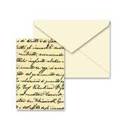 Tassotti - Miniature Vintage Script Notecard & Envelope