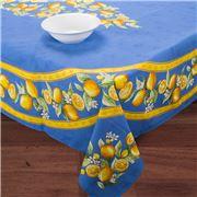 French Linen - Citron Blue Rectangular Tablecloth 155x120cm
