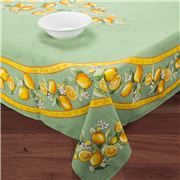 French Linen - Citron Green Tablecloth 155x250cm